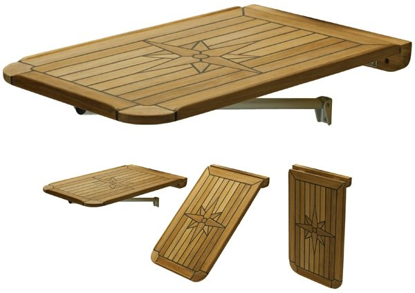 teak folding balcony table tops. Black Bedroom Furniture Sets. Home Design Ideas