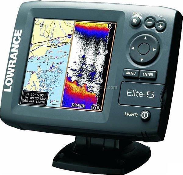 Lowrance Elite 5 Dsi Fishfinder Plotter Gps Chartplotter