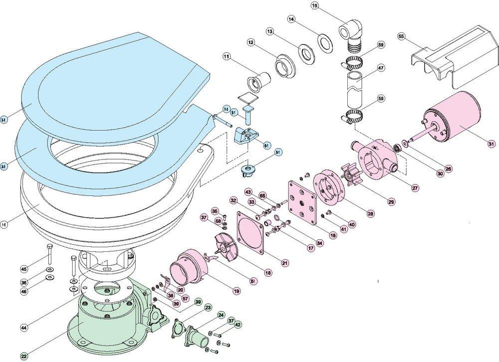 tmc electric toilet spare parts