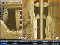 DownScan and Side Imaging combine to give a complete view of what's beneath.