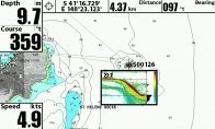 Chart with waypoint Sounder recording
