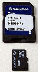Please Note: All Navionics SD Cards come with a SD Card adaptor, cards purchased with th