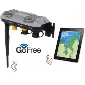 GoFree Wifi Module mirrors your SImrad, Lowrance or B&G screen on your compatible tablet. Note: Tablet not included