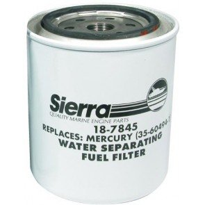 Sierra 21 Micron Fuel Filter Accessories - Mercury/Yamaha Long Filter - Replaces Mercury 35-892893Q, 35-60494-1, 35-807172 & Yamaha ABA FUELF-1L-TR