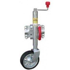 Alco Wind-Up Swing-Up Jockey Wheel - 500kg Lift Capacity