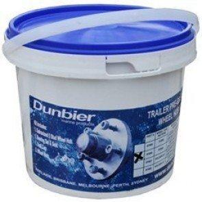 Dunbier Trailer Wheel Hub in a Tub