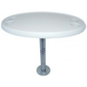 Table 765mmL x 460mmWPedestal 685mmHBase 180mmD x 16mmHNote: Does not include screws